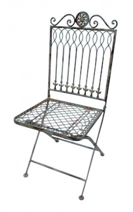 "Folding chair in wrought iron. Collection ""Recamier"""