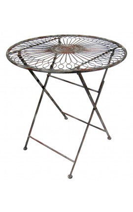 "Folding table wrought iron. Collection ""Recamier"""