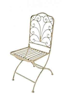 "Folding chair in wrought iron. Collection ""Regency"""