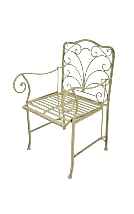Fauteuil en fer forg collection r gence for Fauteuil jardin fer forge