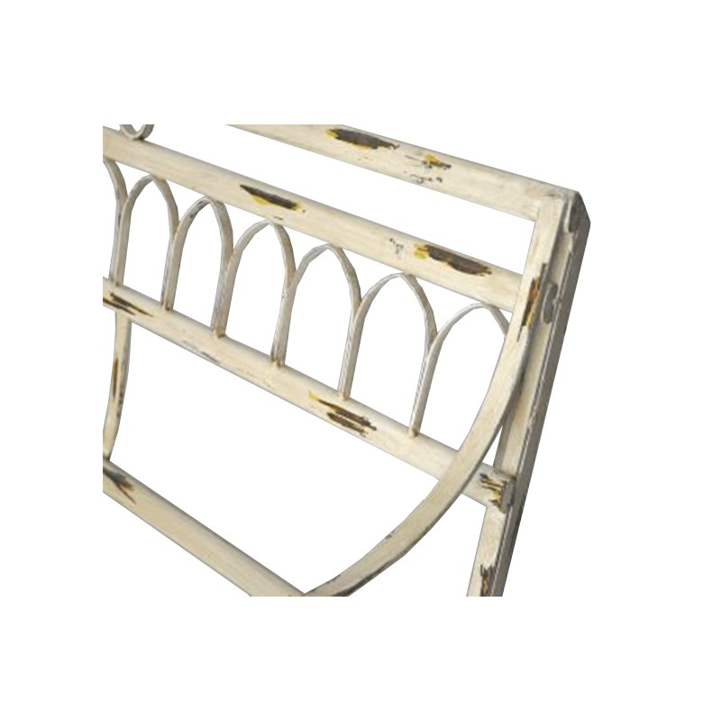 Wrought Iron Bench Collection Pompadour Beige