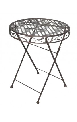 "Folding table wrought iron. Collection ""brown Olivier"""