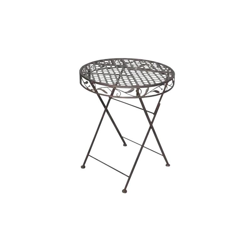 petite table de jardin pliante en fer des. Black Bedroom Furniture Sets. Home Design Ideas