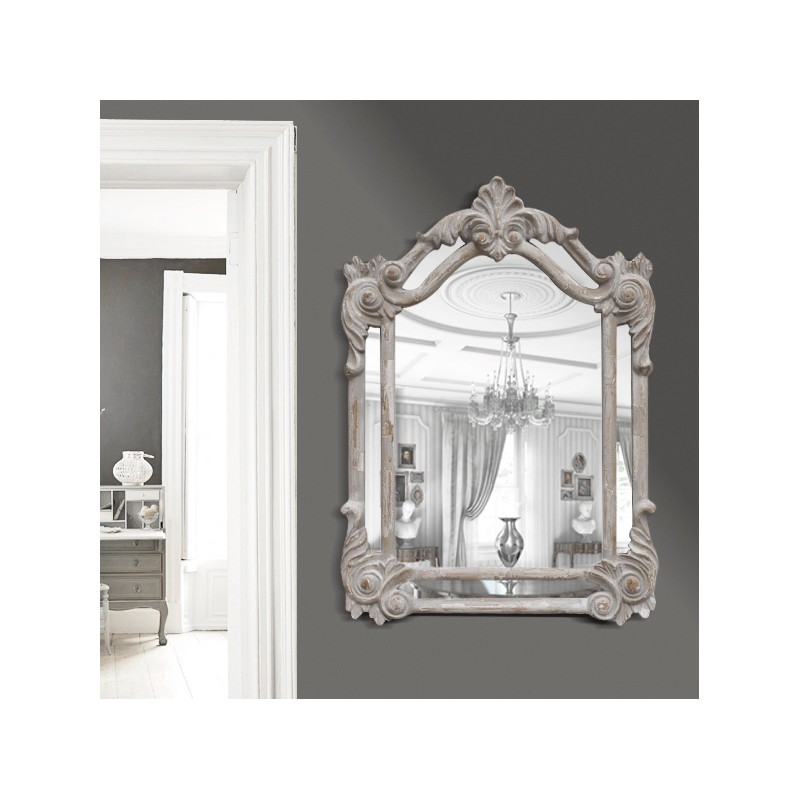 Miroir rectangulaire pareclose gris patin for Miroir rectangulaire