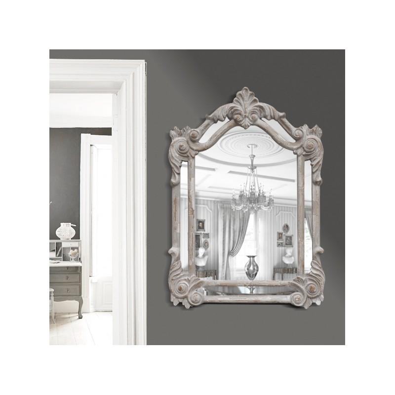 Miroir rectangulaire pareclose gris patin for Miroir rectangulaire