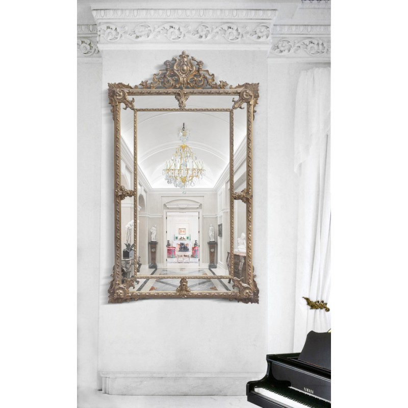 Grand miroir parecloses dor patin for Grand miroir dore