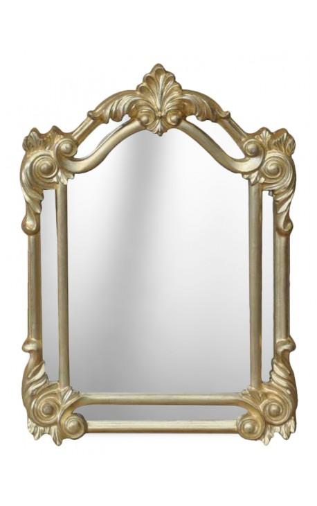 Rectangular mirror weathered gold glazing bead