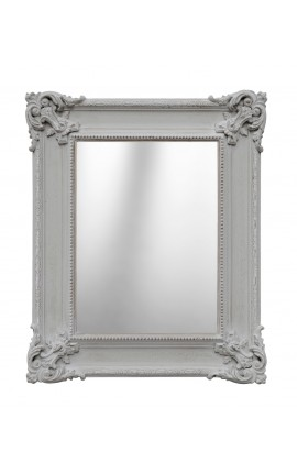 Mirror rectangular gray patina style French Regency