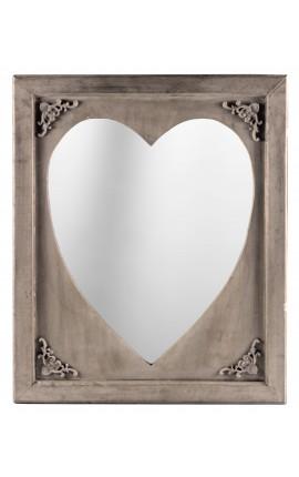Miroir de style louis philippe dor et glace biseaut e for Miroir bois gris