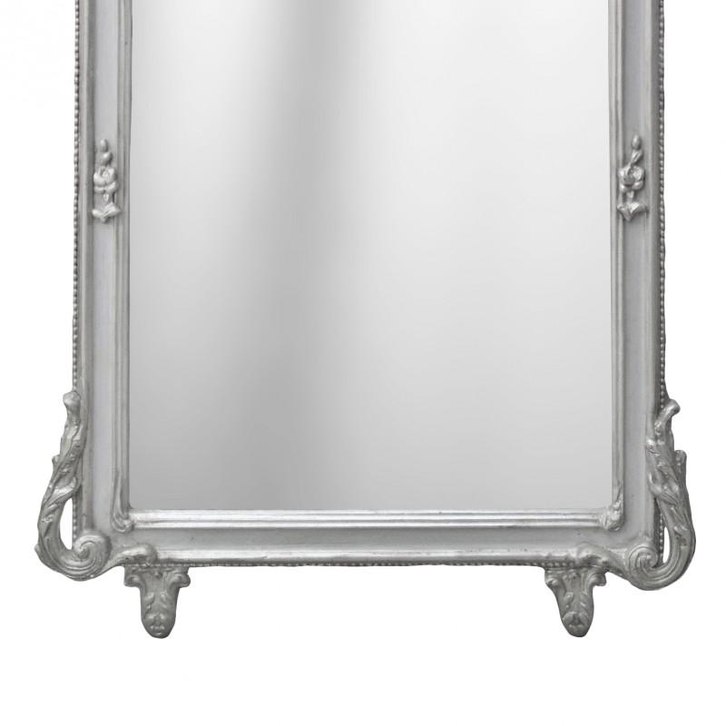 Grand baroque mirror silvered rectangular for Rectangular baroque mirror