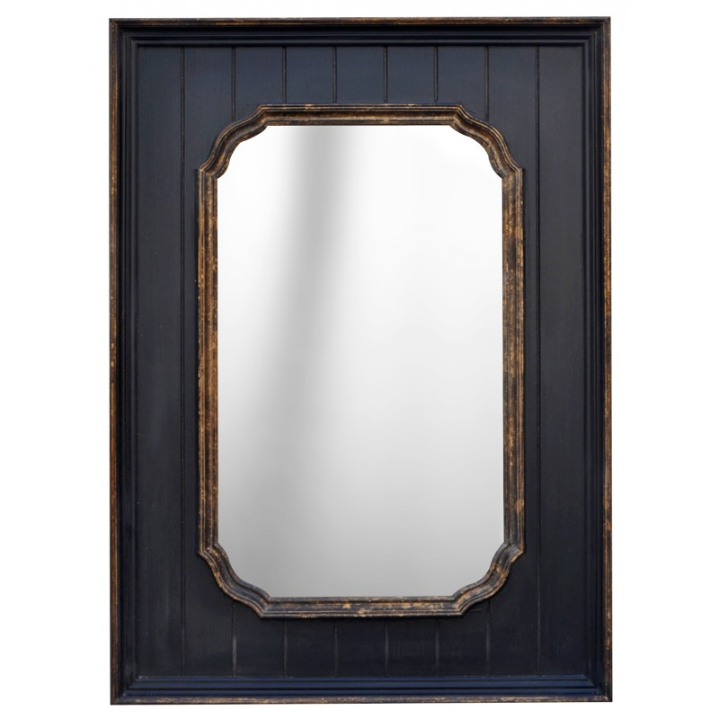 Black rectangular mirror with gold for Mirror black