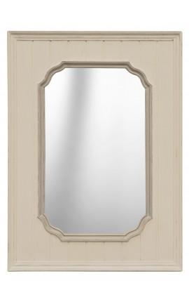 Miroir rectangulaire couleur ivoire
