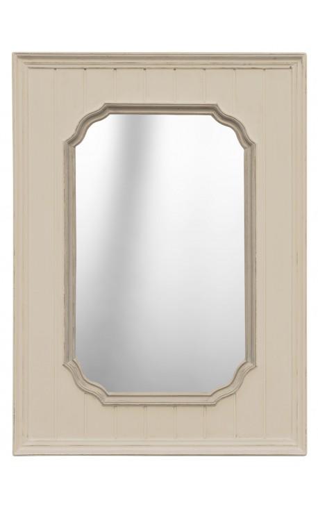 Rectangular ivory mirror