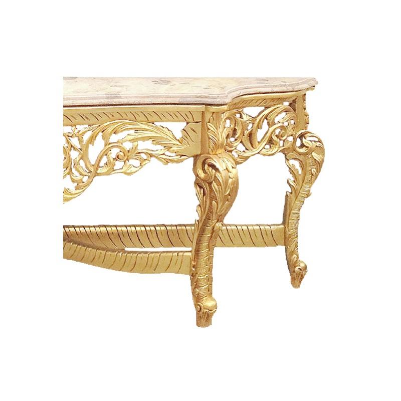 Enorme console avec miroir de style baroque en bois dor for Console avec miroir