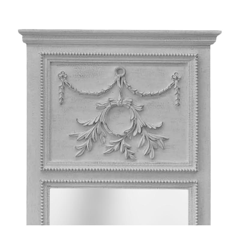 trumeau louis xvi bois gris clair patin vieilli. Black Bedroom Furniture Sets. Home Design Ideas