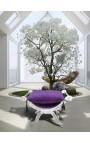 """Скамья """"Dagobert"""" бархатные ткани фиолетовый и серебряный дерево"""