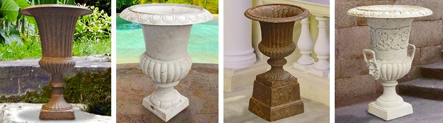 Iron cast Medicis urns