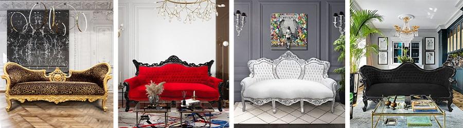 Canapés baroques