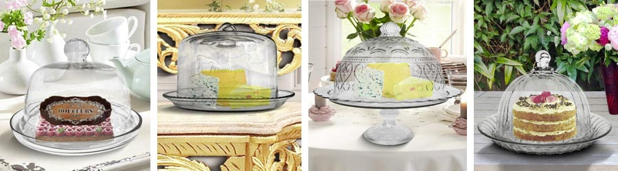 Glass dome for cake or cheese