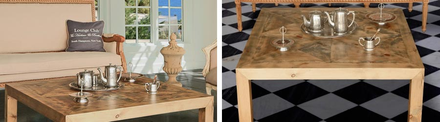 Tables basses de style campagne chic royal art palace for Mobilier de charme chic campagne