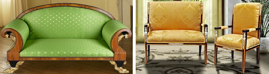 Armchairs and sofas Empire style