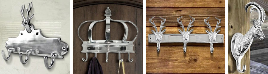 Coat rack and towel holder