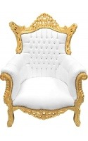 Large baroque rococo armchairs