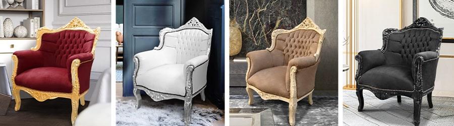 Fauteuils Baroques modèle princier