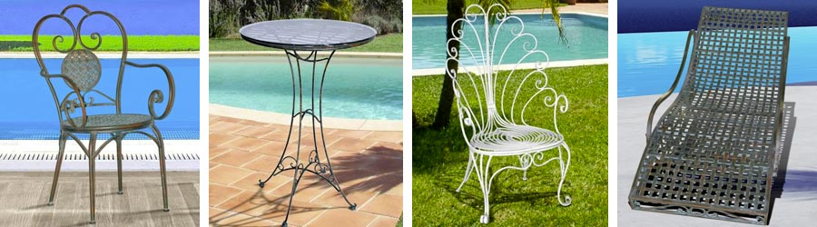 Garden furniture wrought iron