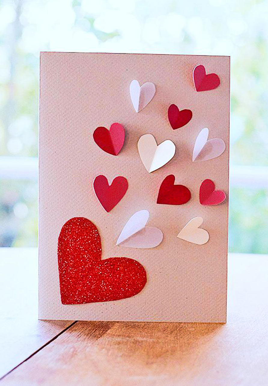 Голосовые открытки, открытки для мамы с сердечками