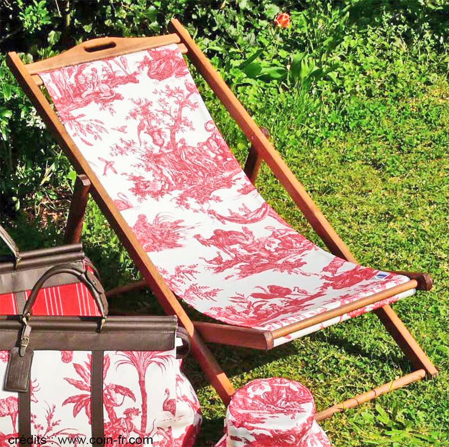 The irresistible charm of the toile de jouy - Changer toile chaise longue ...
