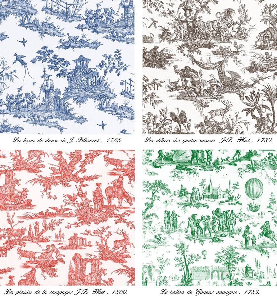 The irresistible charm of the toile de jouy - Tapisserie toile de jouy ...