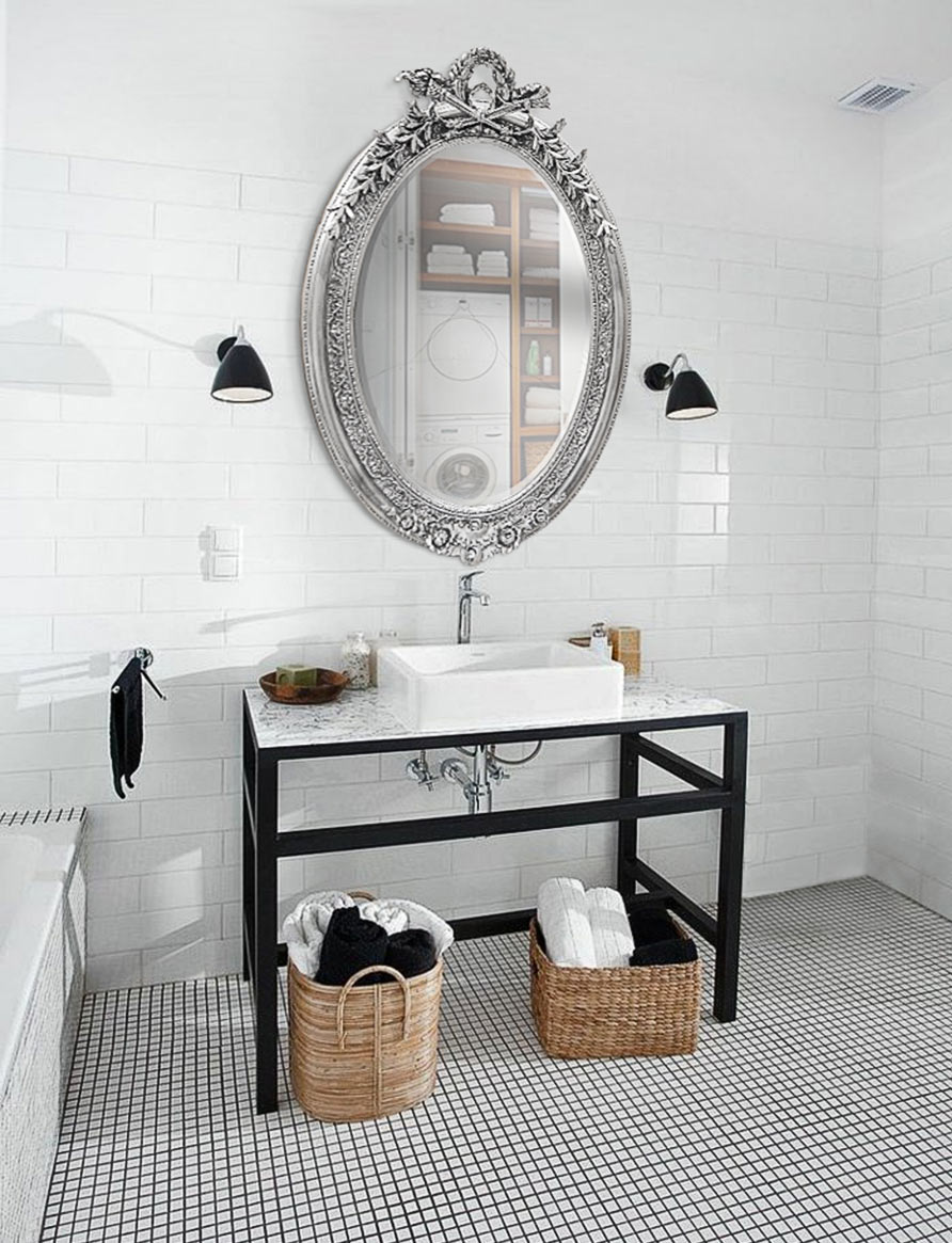 Adoptez le style black and white for Casser un miroir