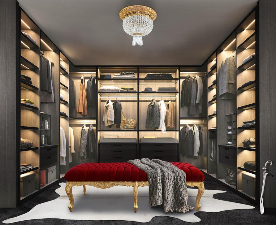 6 tips for organizing dressing room. Black Bedroom Furniture Sets. Home Design Ideas