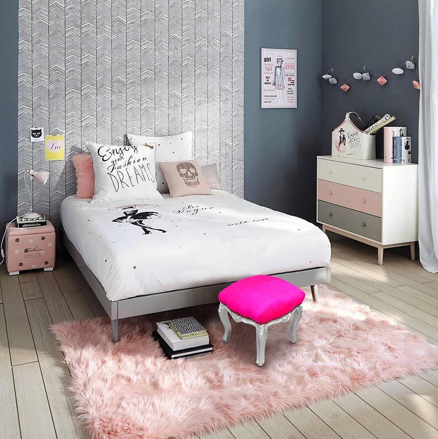 papier peint en tete de lit excellent papiers peints inspirants pour votre chambre with papier. Black Bedroom Furniture Sets. Home Design Ideas