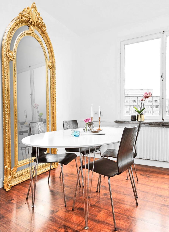 5 bonnes raisons d opter pour un miroir dor xxl. Black Bedroom Furniture Sets. Home Design Ideas