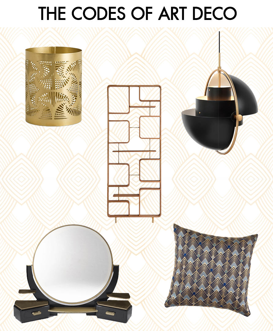 Revisited accessories and furniture in Art Deco style