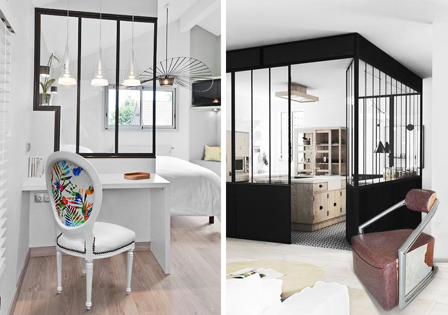 lumi re sur une nouvelle tendance d co la verri re d int rieur. Black Bedroom Furniture Sets. Home Design Ideas